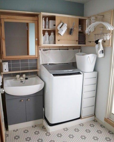 賃貸の洗面所diy 収納編 突っ張り棒メーカーの ラブリコ を使い