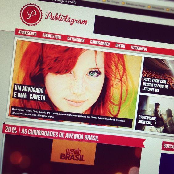 Nova identidade visual e um Novo Blog pra vocês! ;D -> www.publistagram.com