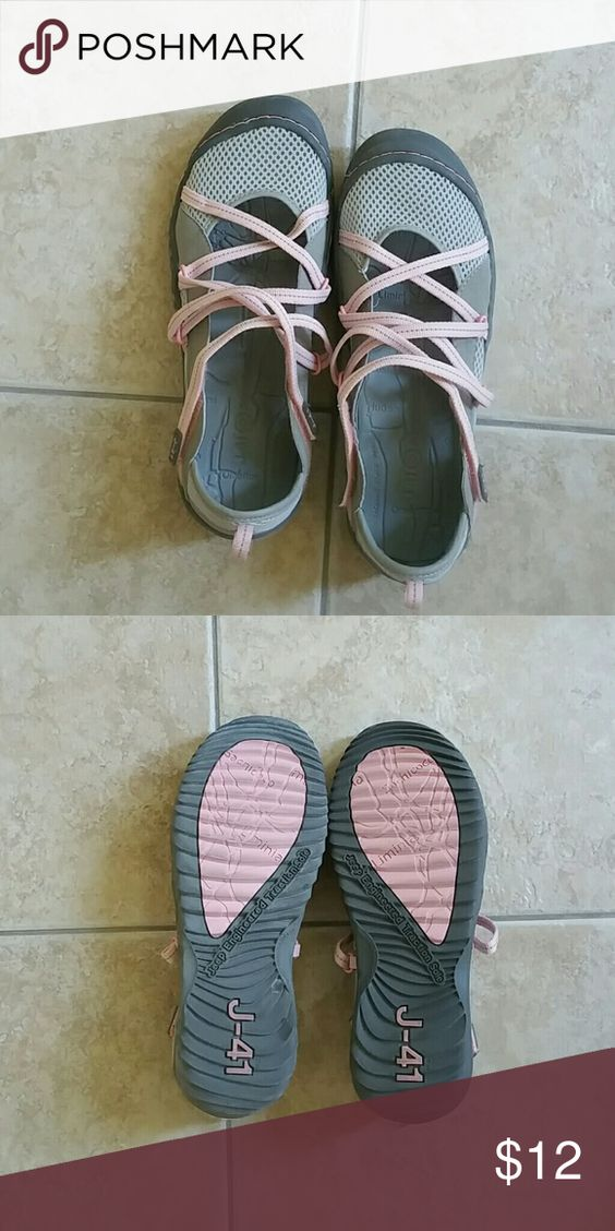 Jeep J-41 Waterproof shoes In excellent condition.   Worn a couple of times.  Comfortable with excellent traction.  Cute, adjustable, velcro straps. Jeep Shoes Athletic Shoes