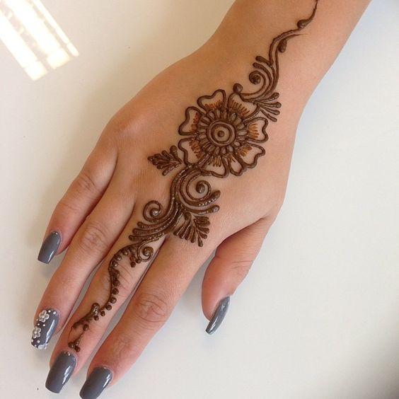 Gambar Henna Mudah