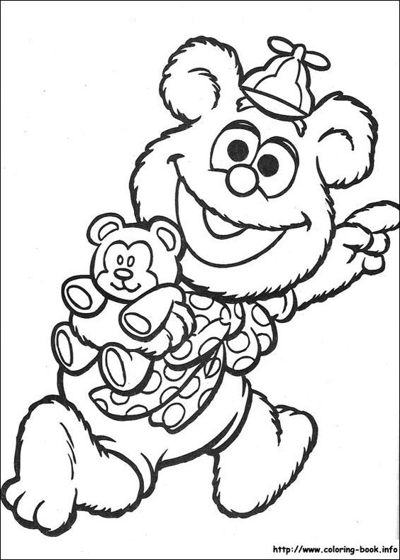 Muppet Babies Coloring Picture Bear Coloring Pages Baby Coloring Pages Coloring Books
