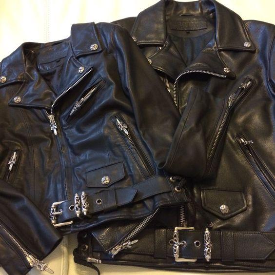 my new leather jacket♡ chromehearts