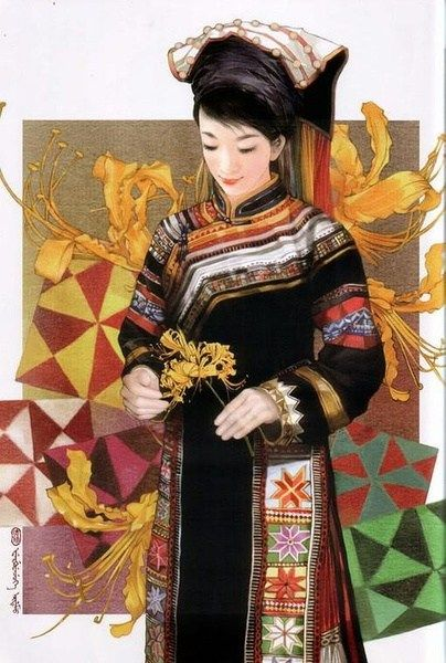 Lahu Woman , china ethinc groups women dresses and accessories