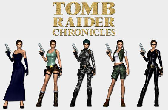 Tomb Raider Chronicles - Lara's outfits by HailSatana