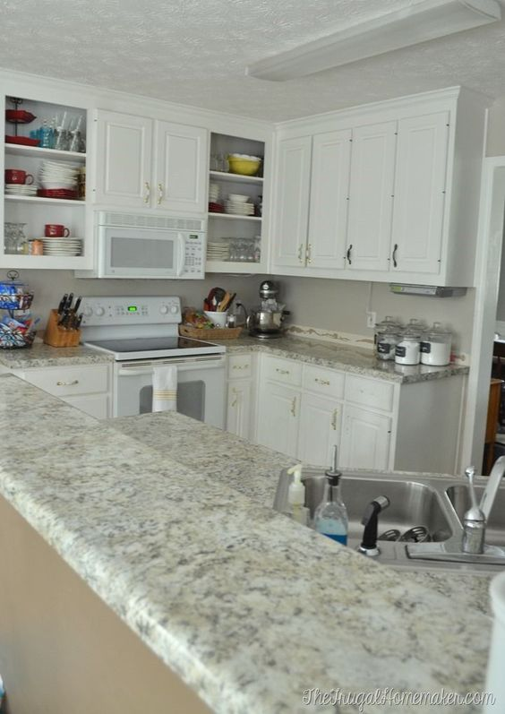 How To Install Your Own Laminate Countertops (we Did And Saved Half The Cost  Of New Countertops!) We Chose @wilsonart Laminate And Love It!