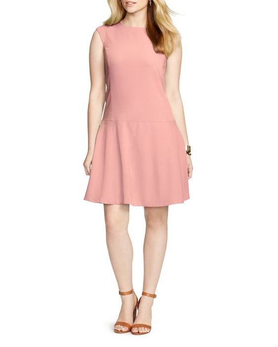 Lauren Ralph Lauren Plus Dropped Waist Dress