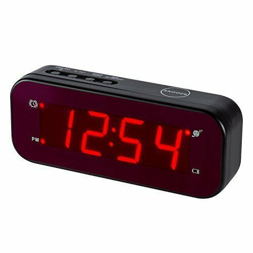 Timegyro Digital Alarm Clock Easy Setting And Battery Operated Only Big Red Digi In 2020 Digital Alarm Clock Alarm Clock Small Digital Clock