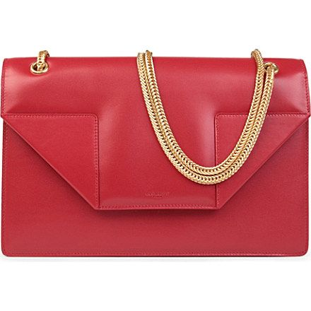 2012 cheap yves saint laurent y clutch in red leather