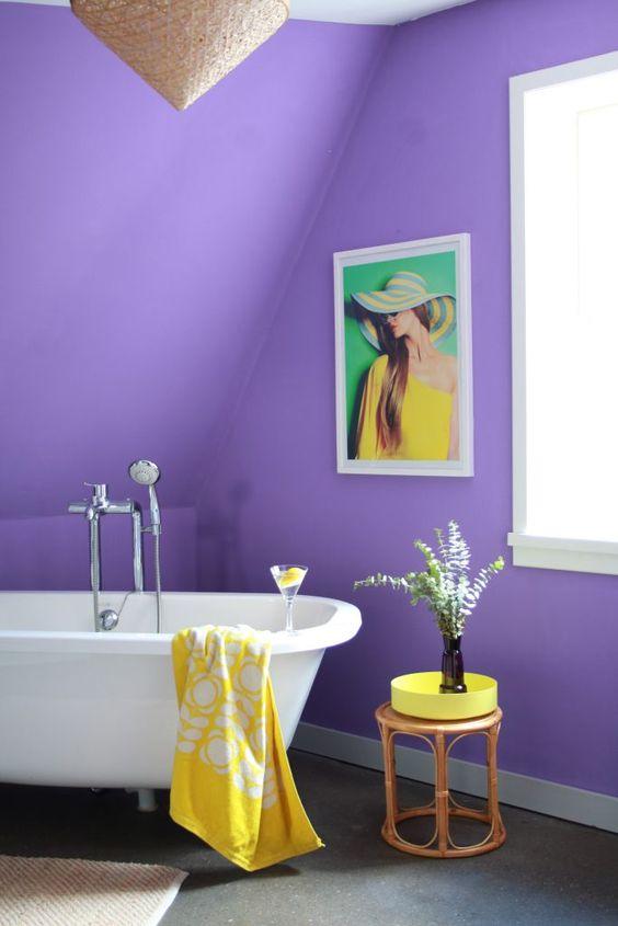 merész lila fürdő