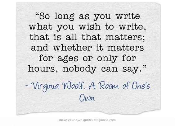 Virginia woolf a room of one own essay