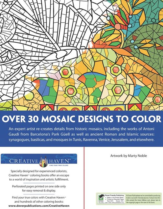 mosaic masterpiece coloring pages - photo#21