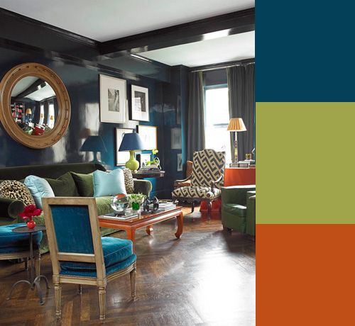 Chic Color Palettes To Steal From Miles Redd Teal Navy And
