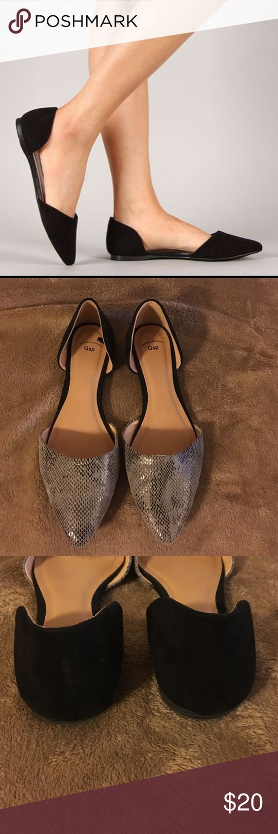 🎁Gap D orsay flat Cute flats for any outfit, black and snakeskin 🚨price is firm GAP Shoes Flats & Loafers