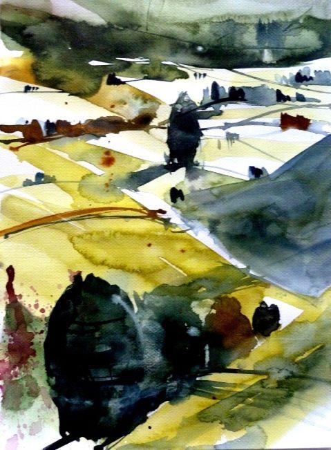 Heinz Buchele Aquarellbilder Abstrakte Wasserfarben