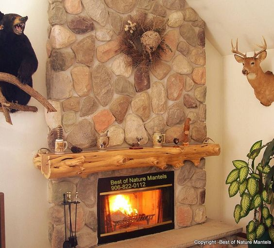 Mantles Logs And Fireplaces On Pinterest
