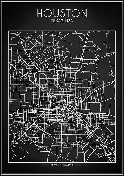 Houston Map Houston Map Map Wall Art Street Map