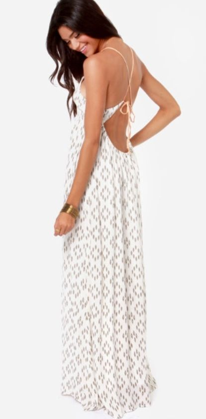 Casual Backless Maxi Dress Photo Album - Reikian