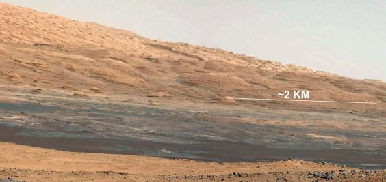 This weekend, I'll have been on Mars 2 weeks. Hope you're enjoying my travel pics. Here's part of Mt Sharp: