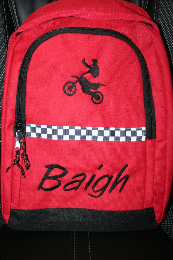 Personalized Backpack Designed by You by EmbroideryMark on Etsy, $22.00 www.embroiderymark.etsy.com