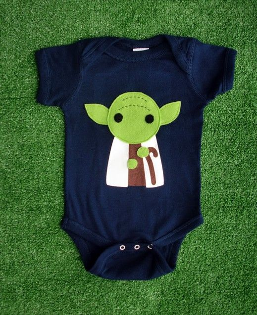 Yes please. Sewing Wars,  Yoda Infant Bodysuit by micielomicielo on Etsy, $23.00