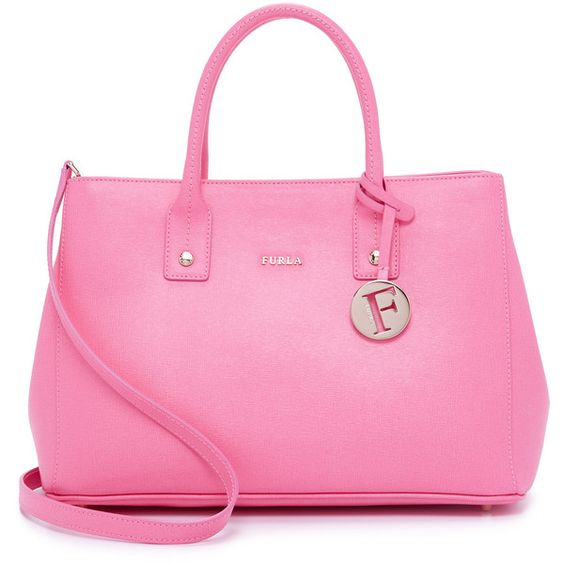 Pink genuine leather handbags