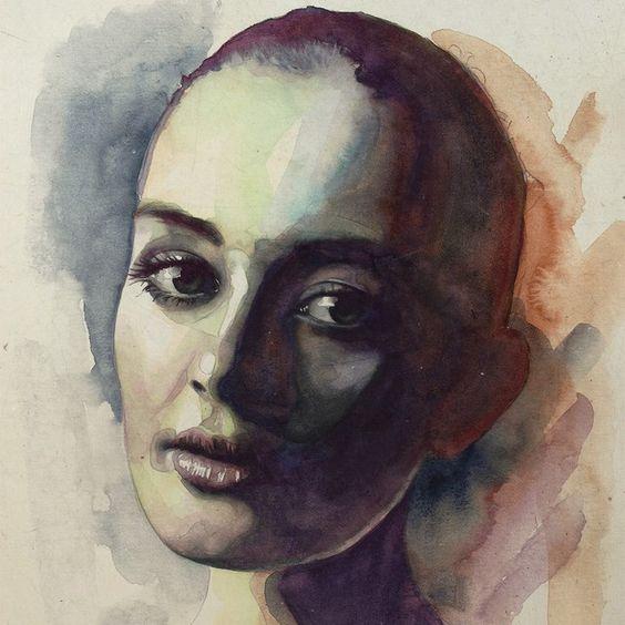 Quarta-feira, testando novo método em #aquarela. #watercolor