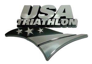 USA Triathlon Chrome Emblem    Show your pride on your Ride with this USA Triathlon Chrome Emblem.  Made in the USA!