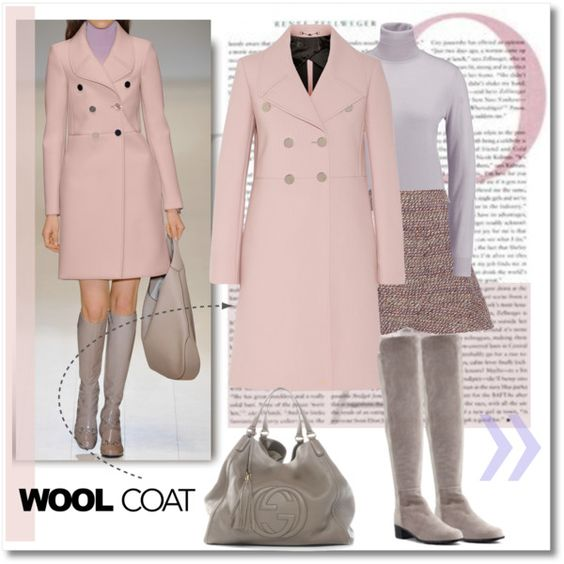 Wool Coat by court8434 on Polyvore featuring Joseph, Gucci, Chloé, Stuart Weitzman, polyvoreeditorial, woolcoat, FashionMYWay and dreamsets