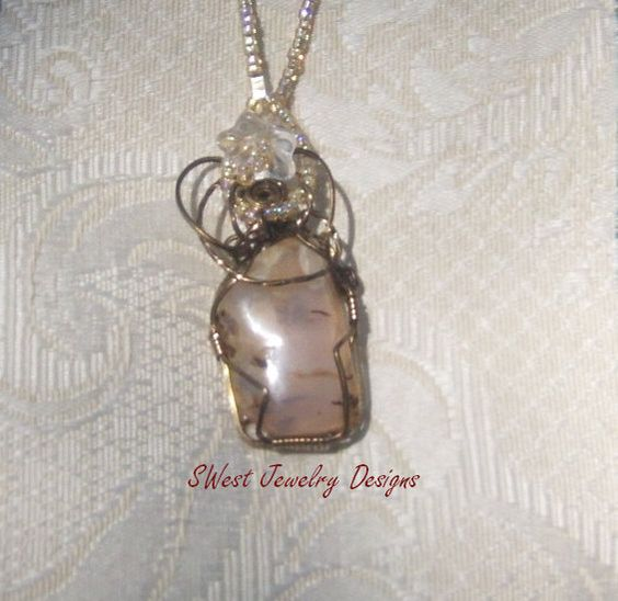 EuroStone 5 necklace by SwestJewelryDesigns on Etsy