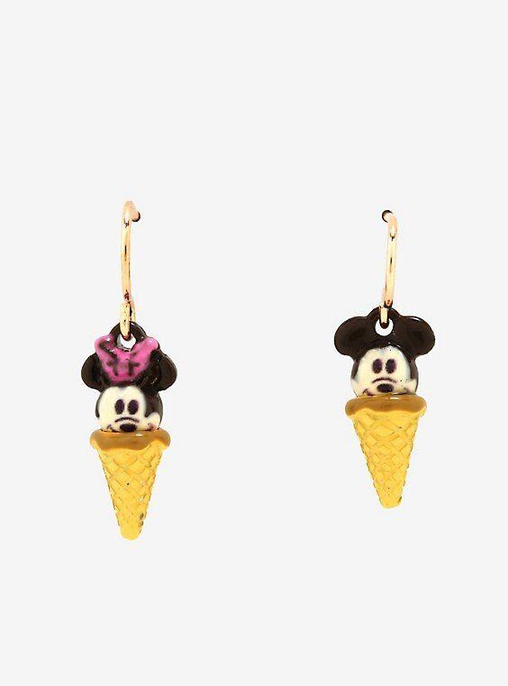 Gelato Disney Christmas 2020 Disney Mickey Mouse Minnie Mouse Ice Cream Dangle Earrings in 2020