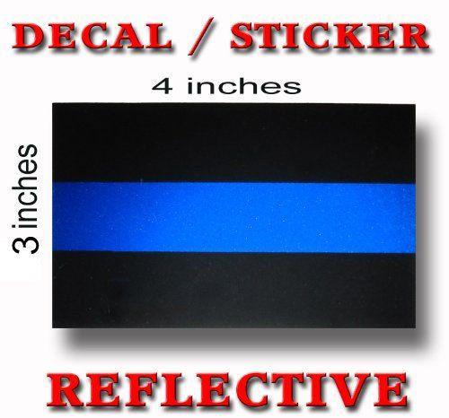 Thin Blue Line Decal Sticker by Sheedyx23 on Etsy