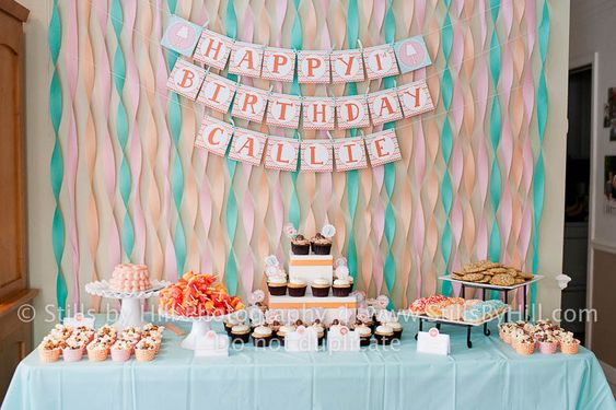 baby girl 1st birthday party idea
