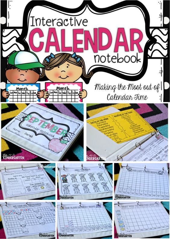 Interactive Calendar Games Kindergarten : Calendar time using interactive notebooks