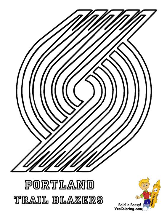 images of the trail blazers logos coloring pages kidscom boy - Basketball Coloring Pages Kids