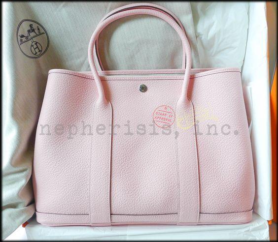 hermes bucket bag - Hermes Garden Party 36 Bag in Rose Sakura. Medium size. New ...