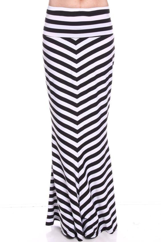 black white striped skirt#women skirt#black white skirt#striped ...