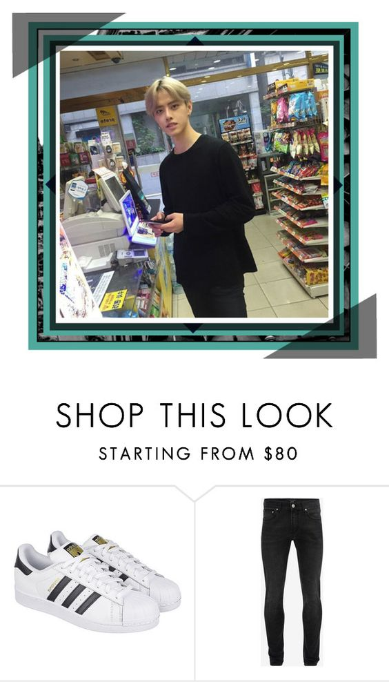 """""""The Convenience Store 편의점"""" by jeon-yuho ❤ liked on Polyvore featuring adidas, Alexander McQueen and River Island"""