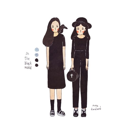 black mood by Natnicha Pimpa, via Behance