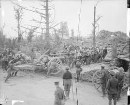 WW1, Battle of the Somme, August 1916. Gunners of the Royal Garrison Artillery…