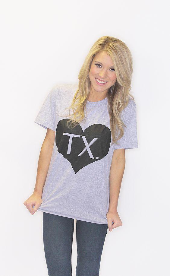 Heart Texas American Apparel Tee – Grey©  {Riffraff}  $8