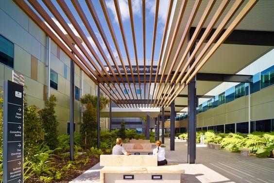 Exterior shot of the Sunshine Coast University Hospital