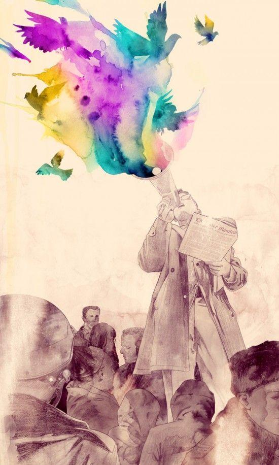 Matheus Lopes - Manifesto, traditional art, mixed media