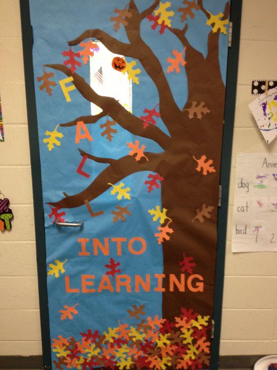 Fall Harvest Classroom Decorations ~ Fall classroom door doors pinterest