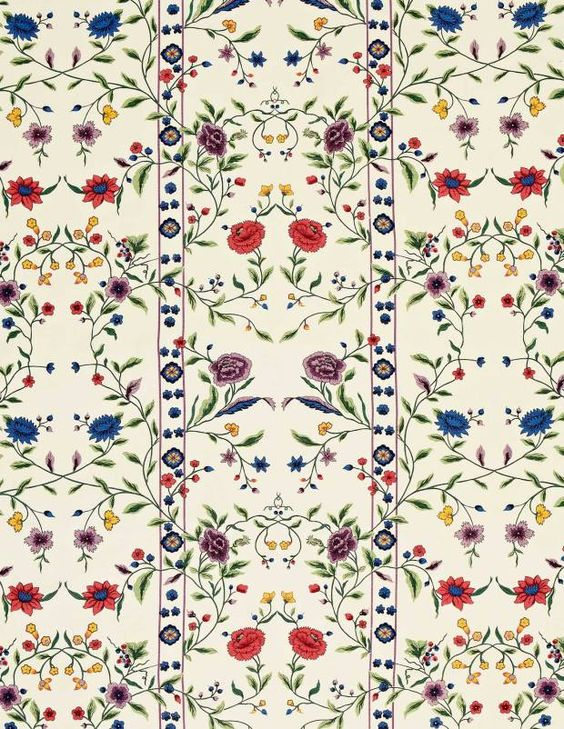 Scalamandre Jardin de Tuileries  -- fabric used in Jackie's bedroom at 1040 Fifth:
