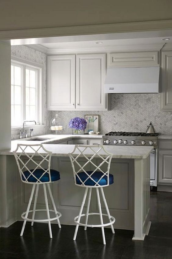 """Interior Design Ideas - """"Pale Gray Cabinet Paint Color"""" --- Sherwin Williams Light French Gray. #sherwinwilliamslightfrenchgray"""