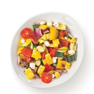 Salade de maïs et légumes grillés - Recettes - Cuisine et nutrition - Pratico Pratique