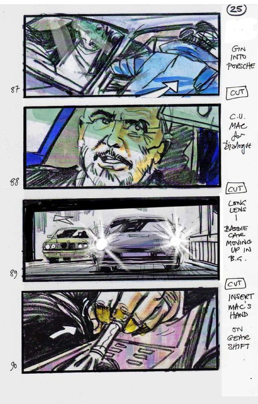 Martin Asbury  Entrapment  Use Of Colour  Storyboards