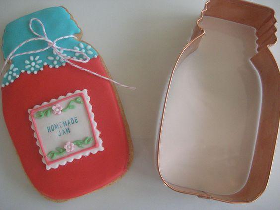 mason jar cookie cutter by sugarlily cookie, via Flickr