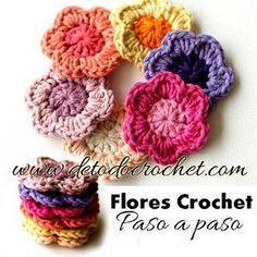 Todo Crochet Tutorial De Flor Ganchillo Flores Tejidas A Crochet Flores Crochet Patrones