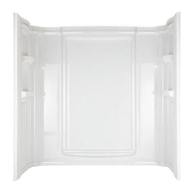 Aqua Glass Eleganza W x D x H High Gloss White Polystyrene Bathtub Wall  Surround. Or maybe this one